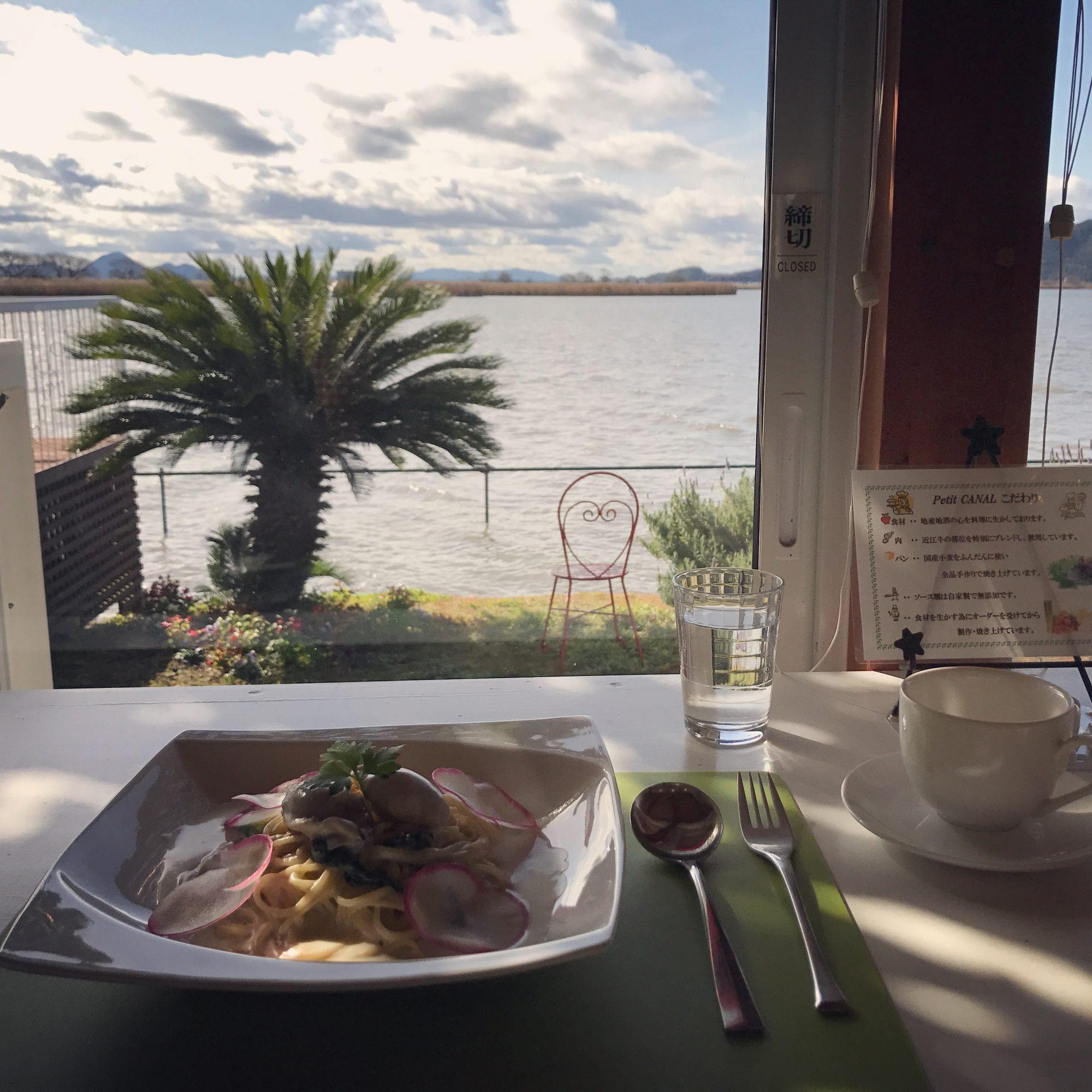 琵琶湖【petit CANAL】西の湖の湖畔のおしゃれカフェでランチしてきました♡