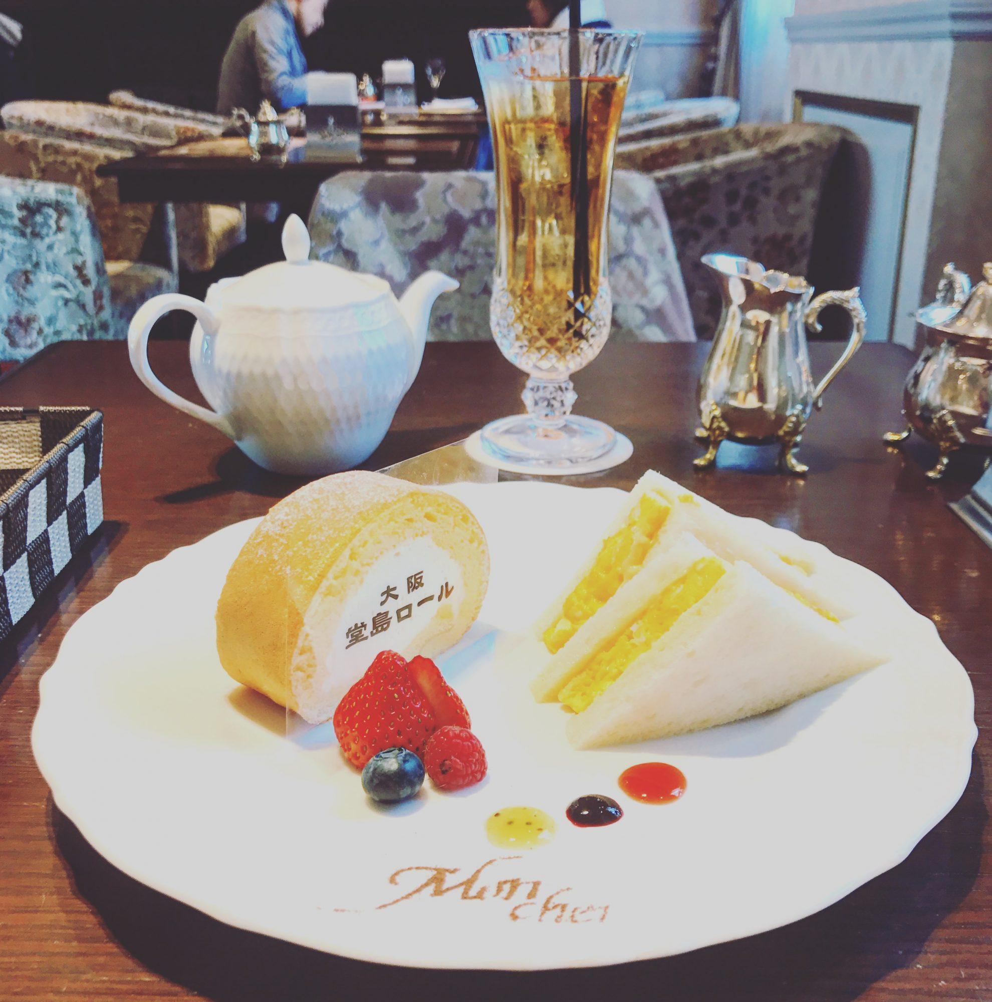 心斎橋【Mon Cher 堂島ロール】大阪限定プレートを食べました!【大阪】