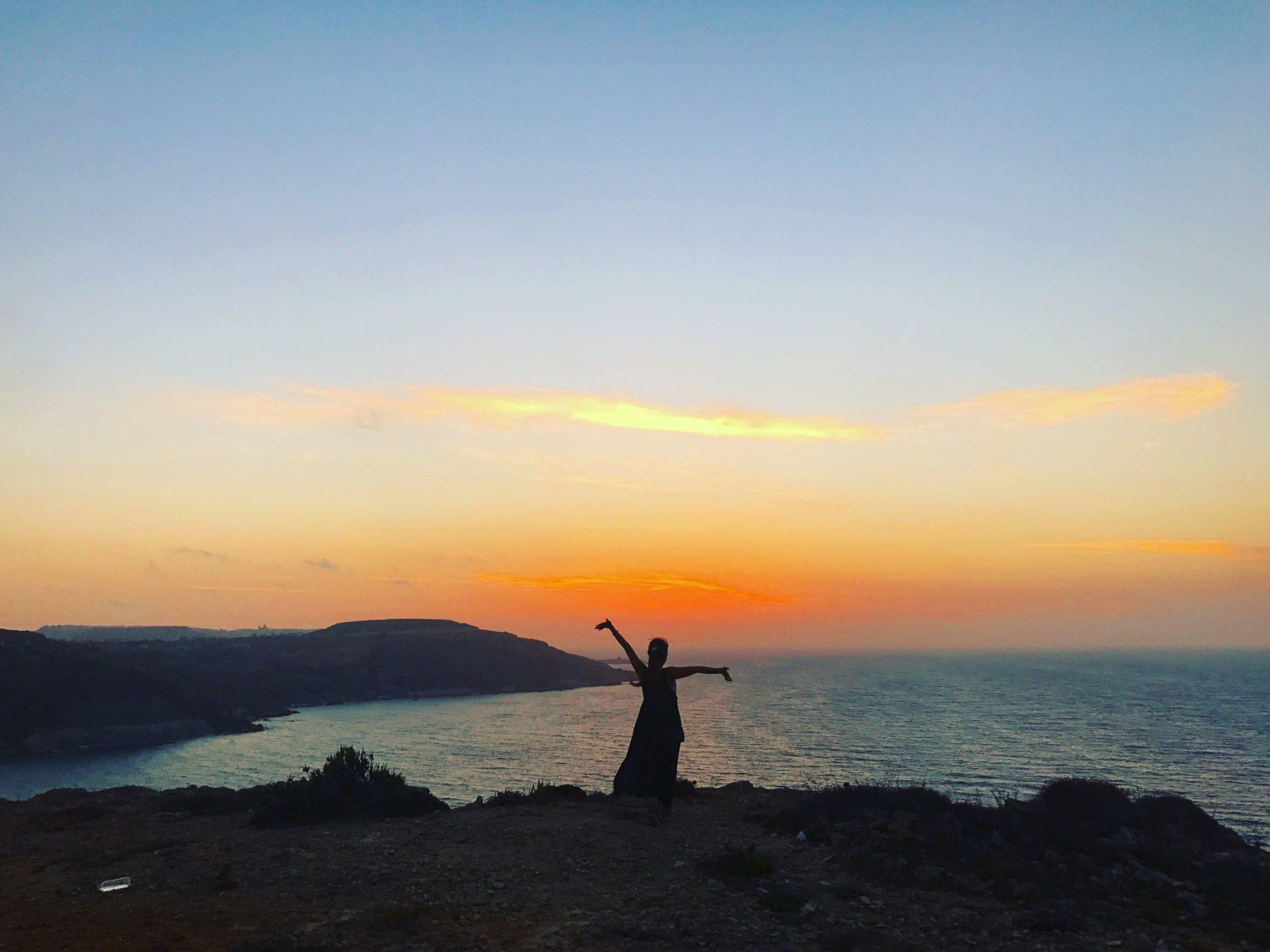 ゴゾ島の夕日